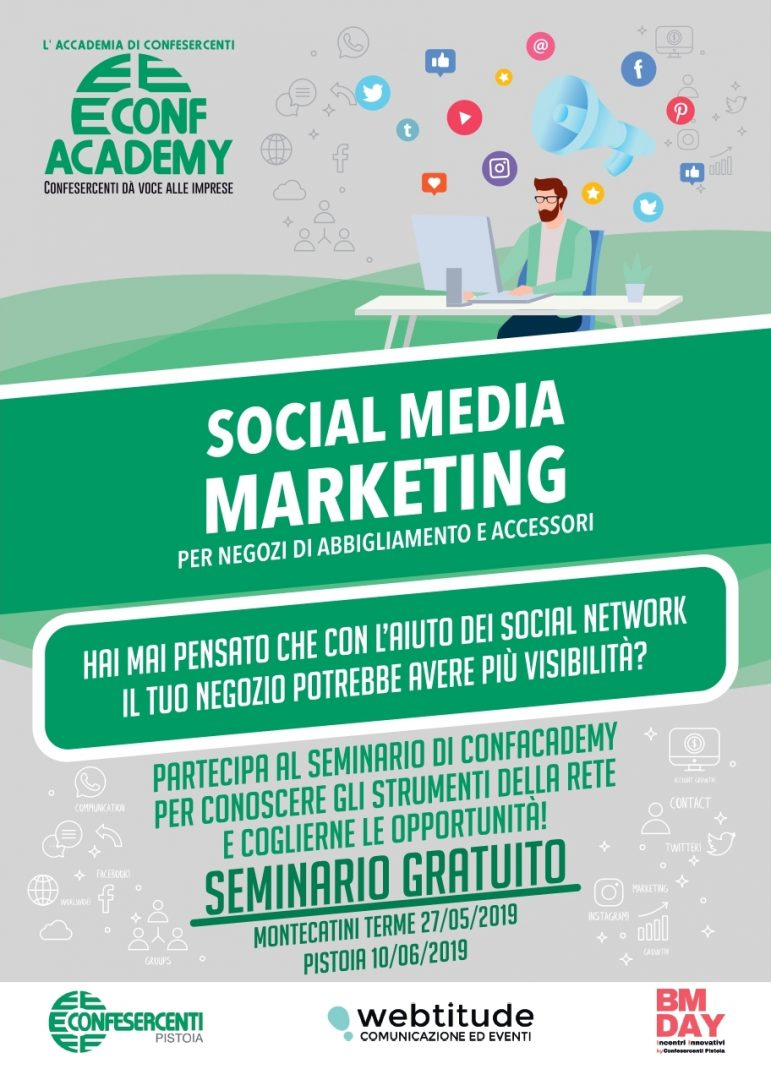 SOCIAL MEDIA MARKETING – Si replica a Pistoia lunedì 10 giugno