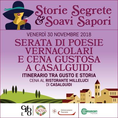 Storie Segrete & Soavi Sapori: Venerdi  30 novembre