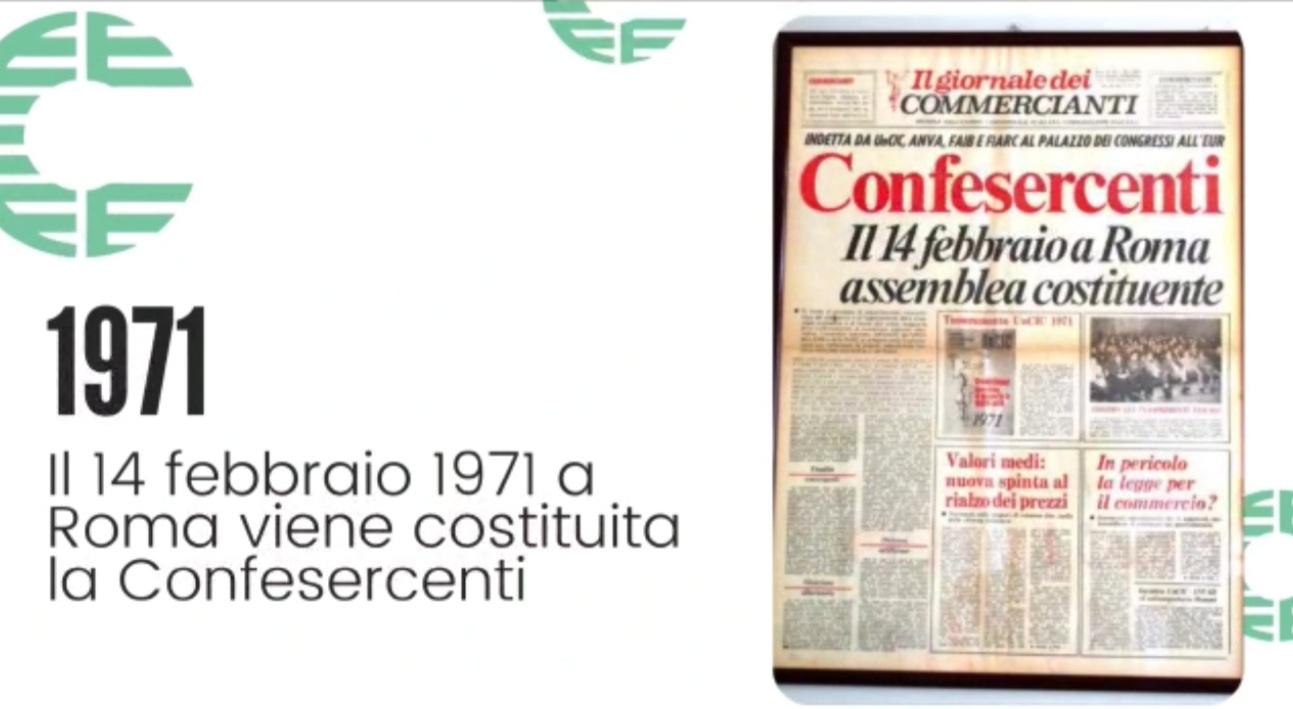 IL VIDEO DEI PRIMI 50 ANNI 1971 – 2021 – Confesercenti sempre dalla parte delle imprese