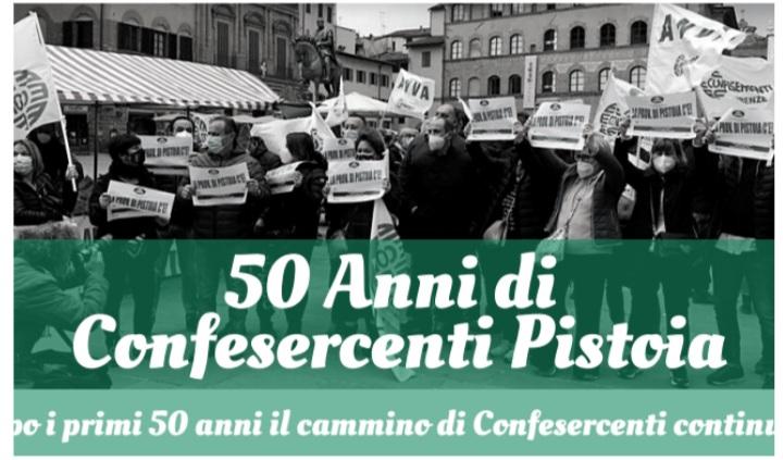 I PRIMI 50 ANNI DI CONFESERCENTI PISTOIA: UN INCONTRO-FESTA A VILLA GIORGIA CON I PROTAGONISTI DI QUESTA BELLA STORIA